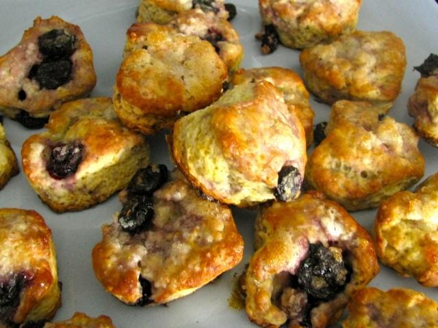 Mini Meyer Lemon and Blueberry Scones | flour | sugar | eggs | butter ...