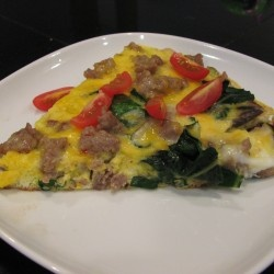 It's your best friend. It's the Big Fat Frittata: Sausage, chard, and...