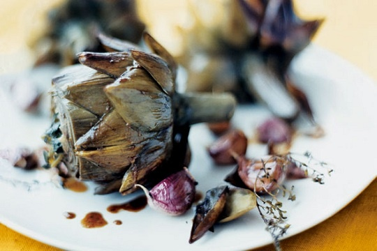 Braised Artichokes with Garlic and Thyme | Health for Body and Soul ...