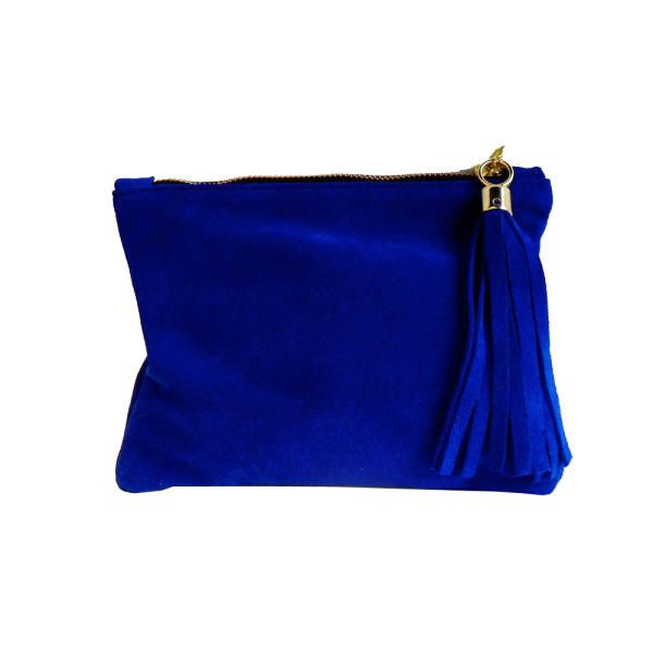 Mini+Suede+Clutch+-+royal+blue+by+Miller+and+Jeeves