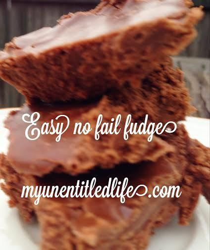 easy no fail fudge recipe | Goodies/Desserts | Pinterest