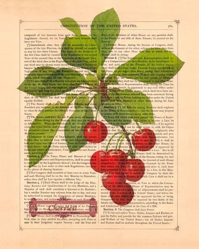 Vintage Art Print on antique paper