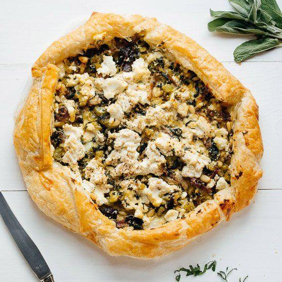 Tasteful tart with swiss chard, herbs, ricotta, lemon and pine nuts ...