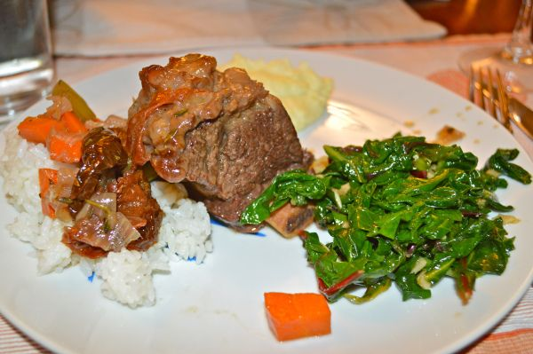Braised Beef Short Ribs With Red Wine Gravy And Swiss Chard Recipe ...