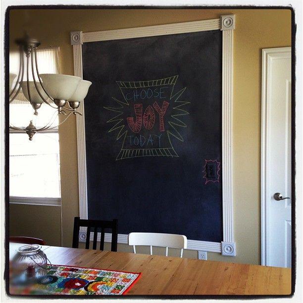 framed chalkboard wall home decor pinterest. Black Bedroom Furniture Sets. Home Design Ideas