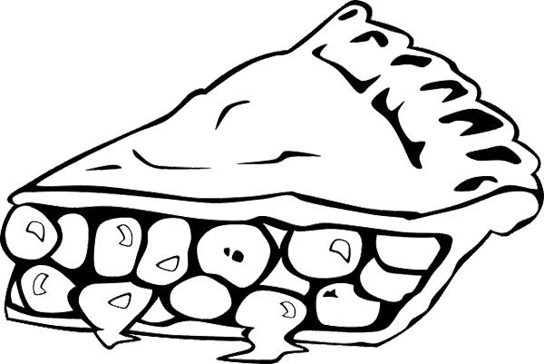 Coloring Pages Of Apple Pie : Slice apple pie coloring page cookie pinterest