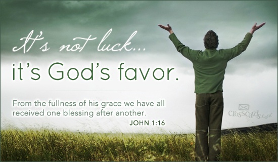 So thankful for God's favor in my life.