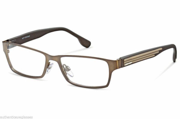 Diesel DL5014 048 Mens Eyeglasses Bronze Brown Metal ...