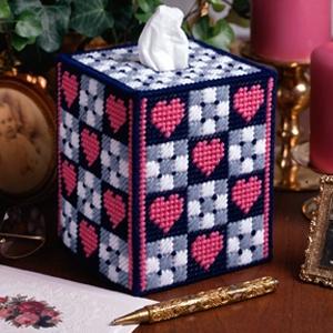 Leisure Arts - Checkerboard Hearts Plastic Canvas Pattern ePattern, $1 ...