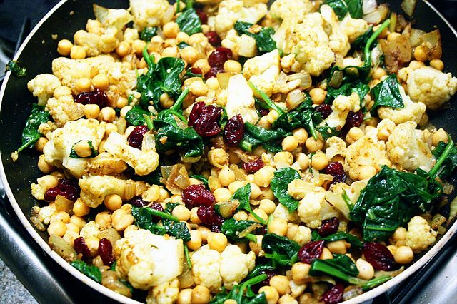 Recipe: Chickpeas, Spinach & Cauliflower Couscous — Code For ...