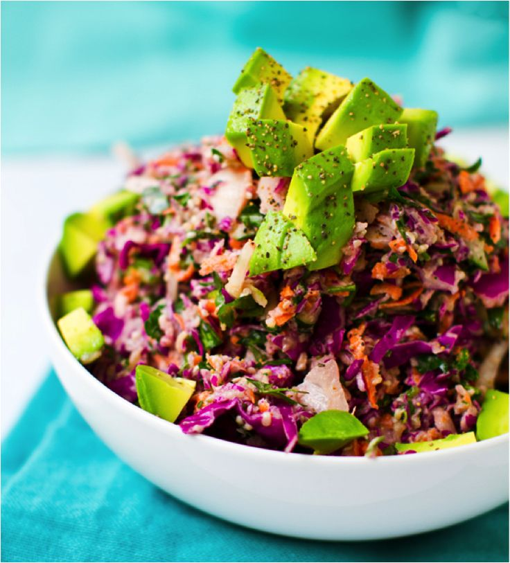Rainbow Slaw with Sweet Tahini Dressing | RAWesome | Pinterest