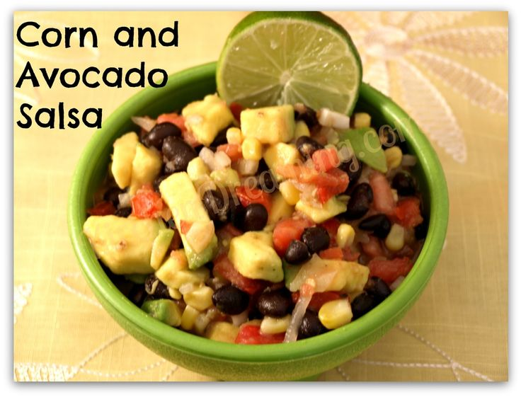 Corn and Avocado Salsa - Kitchen Dreaming #avocado #salsa #appetizer