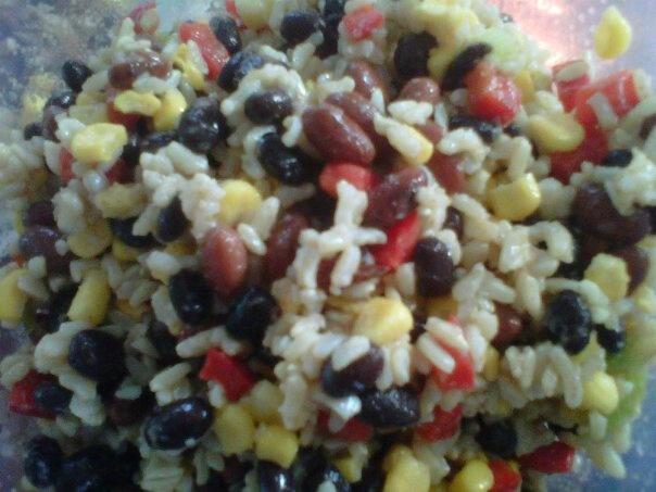 Confetti Rice and Bean Salad | Incredible Edibles | Pinterest