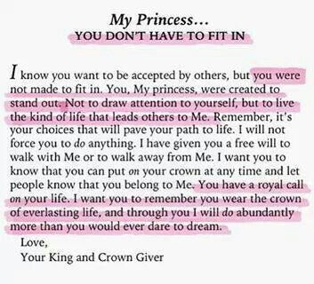 letter from god to his princess great quotes pinterest With love letters from god to his princess