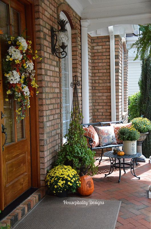 Fall Porch Housepitality Designs Fall Inspiration