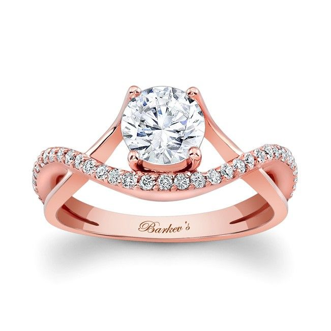 rose gold engagement ring 7913lpw dramatic sure to catch the eye