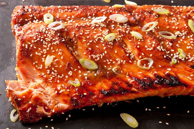 Miso-Ginger Glazed Salmon by chow #Salmon #Miso