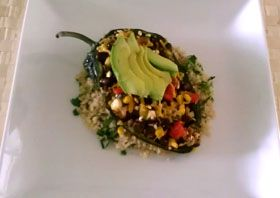 Black Bean Stuffed Poblano Peppers Poblano peppers are blackened ...
