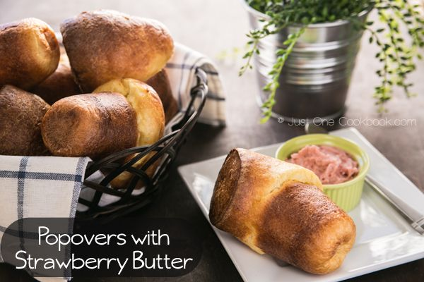 Popovers with Strawberry Butter | Recipe