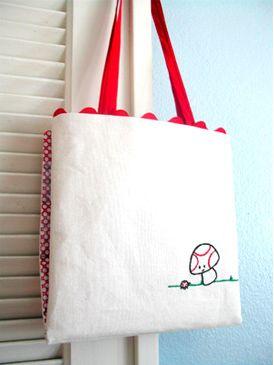 Embroidery Bag Tutorial, triedandtrueblog.com