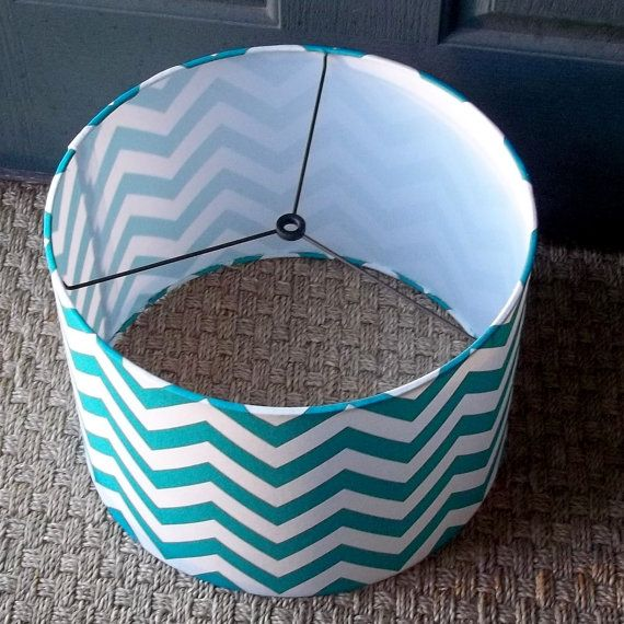 drum lamp shade true turquoise chevron lampshade 12 x10. Black Bedroom Furniture Sets. Home Design Ideas