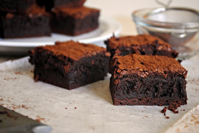 Spicy Chocolate-Cayenne Truffle Brownies | dessert recipes | Pinterest