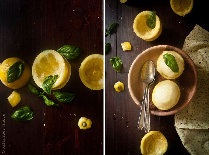 Delicious Shots: Lemon-Basil Sorbet | Ice Cream & Sorbets | Pinterest