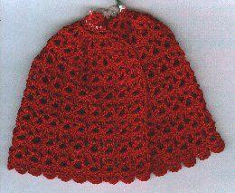 Free Knitting Pattern For Dolls Cape : CROCHET DOLL CAPE PATTERN FREE CROCHET PATTERNS