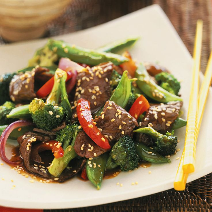 Orange Ginger Beef Stir-Fry. I'm so making this!