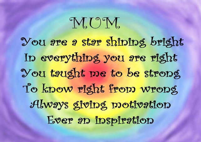 MUM - Digital Wall Art Print. Rainbow Inspirational Word Art. Mothers ... Rainbow Rose Drawing