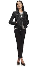 Dree Leather Biker Jacket