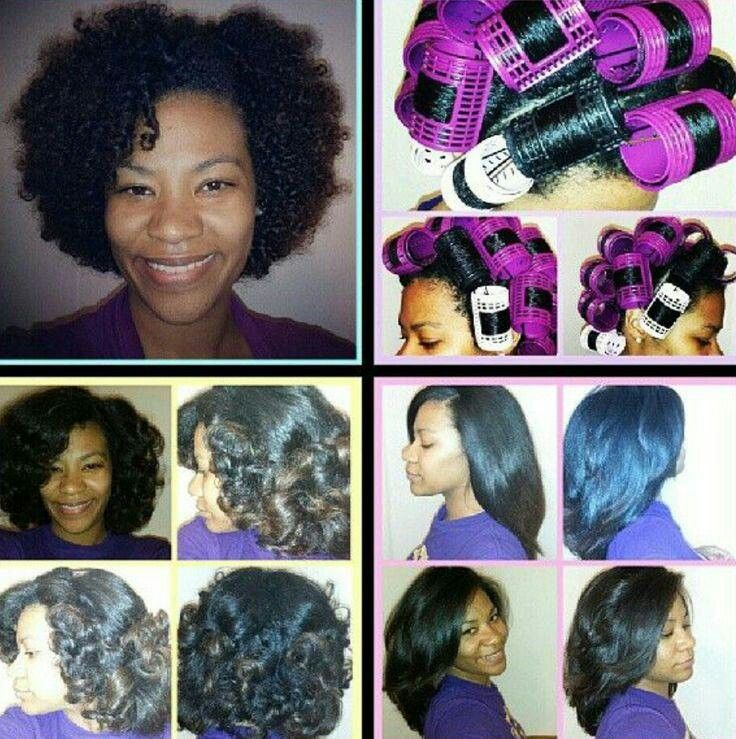how to sew straight : Roller set on natural hair african american hair & nails Pinterest