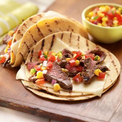 Chili-Rubbed Skirt Steak Tacos Recipes — Dishmaps