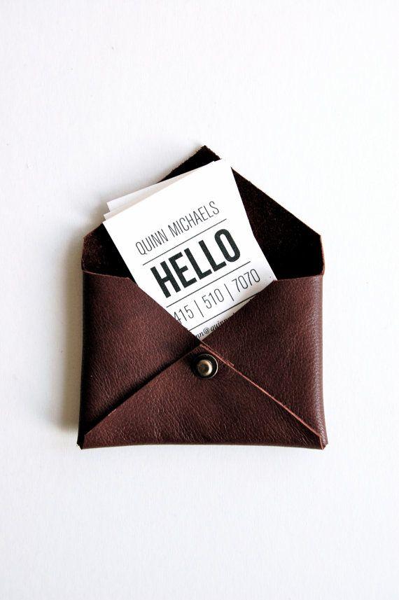 Leather enveloppe for visit cards!