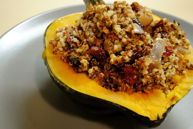 Quinoa Stuffed Acorn Squash | That's what's for dinner | Pinterest