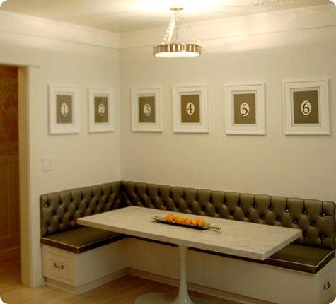 banquette   Mid Century Modern Kitchen   Pinterest