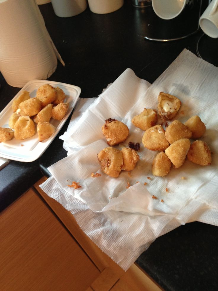 Deep Fried Mozzarella Balls | FOOD~ F R I E D! | Pinterest