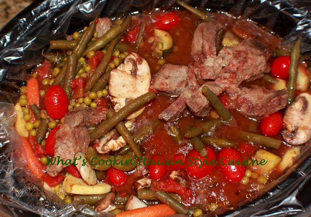 ... ' Italian Style Cuisine: Crockpot Italiano Vegetable Beef Stew Recipe