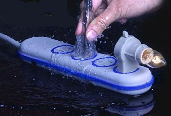 Waterproof power strip from Wet Circuits - so handy for parents!
