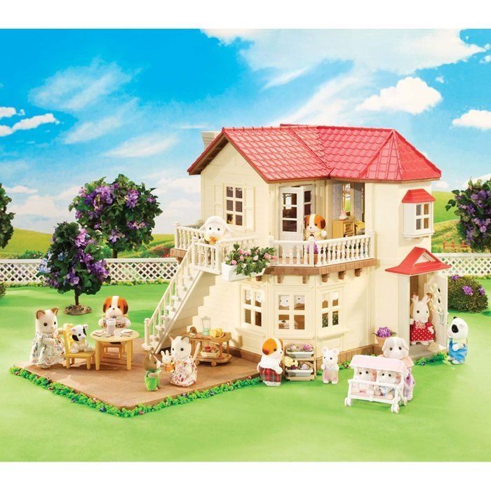 calico critters luxury townhome wallpaper joy studio