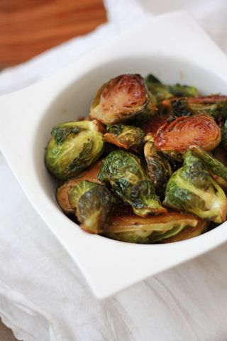 Roasted Maple Dijon Brussels Sprouts I One Lovely Life