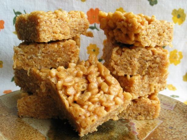 Peanut butter rice crispy treats recipe