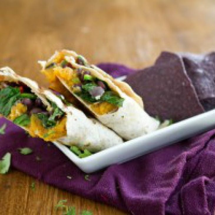 Sweet Potato and Spinach Burrito Recipe | Let's try eating plants ...