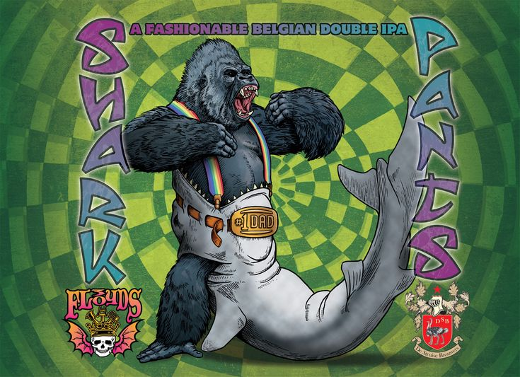 "A gorilla wearing ""shark pants"" .. It really couldn't get more awesome unless the pants were on a T-Rex."