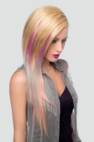 Clip Colored Extension Hair In 121