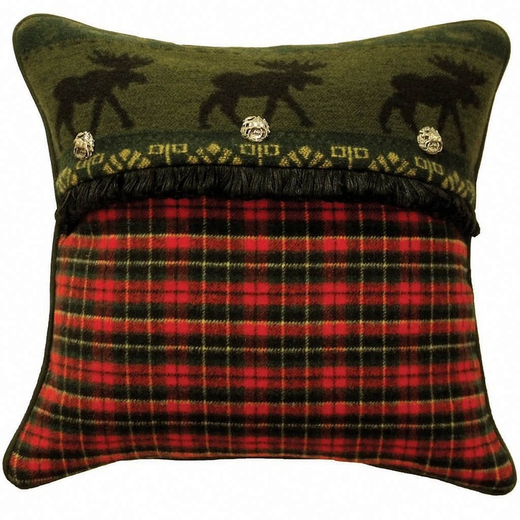 Red Plaid Throw Pillows : McWoods Red Plaid Throw Pillow by Wooded River