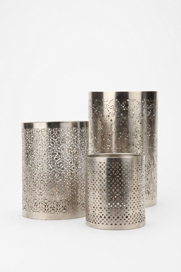 Punched metal votive candle holder my nuptials pinterest - Punched metal candle holder ...