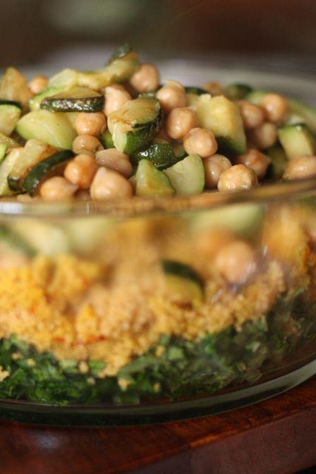 Saffron Zucchini Couscous | Vegan Recipes | Pinterest