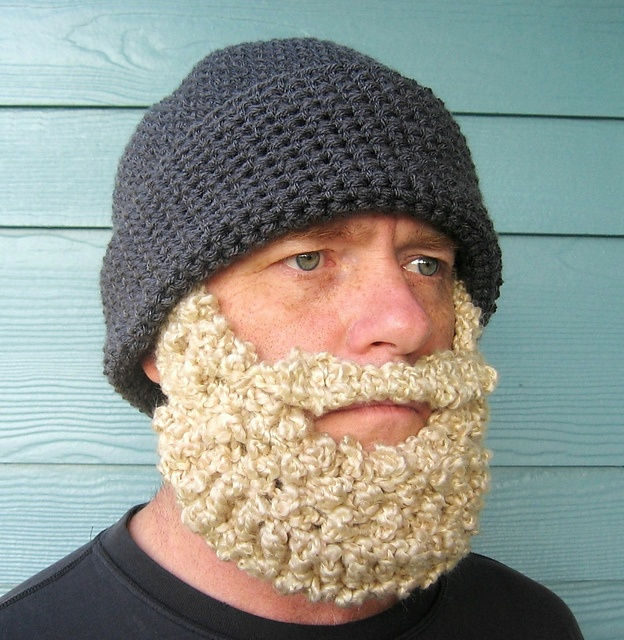 Bearded Beanie Knitting Pattern : Beard Hat Santa Beanie pattern by Celina Lane