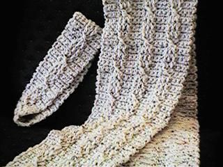Twisted Cable Scarf free crochet pattern
